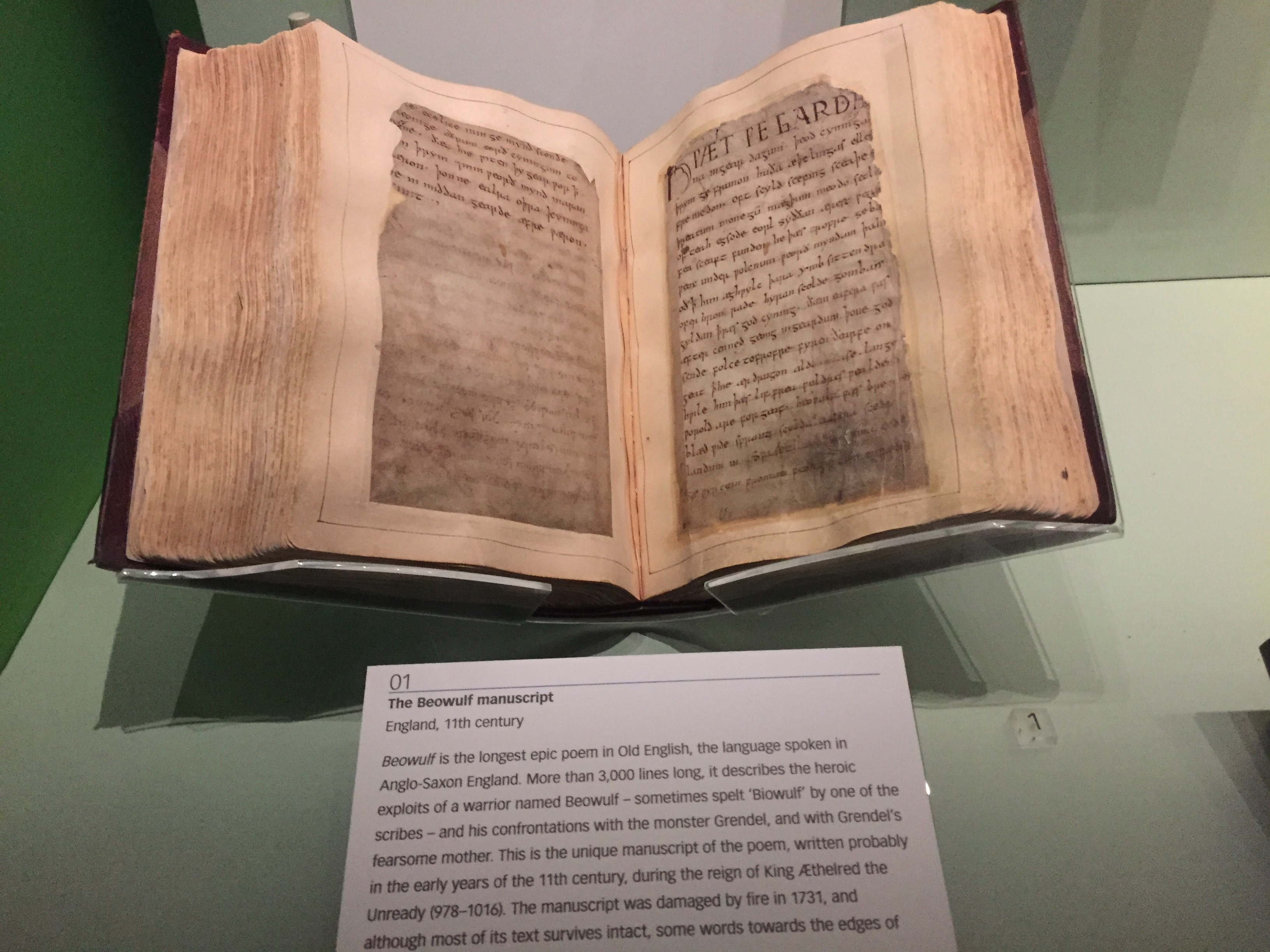 Beowulf. BEOWULF! at the British Library
