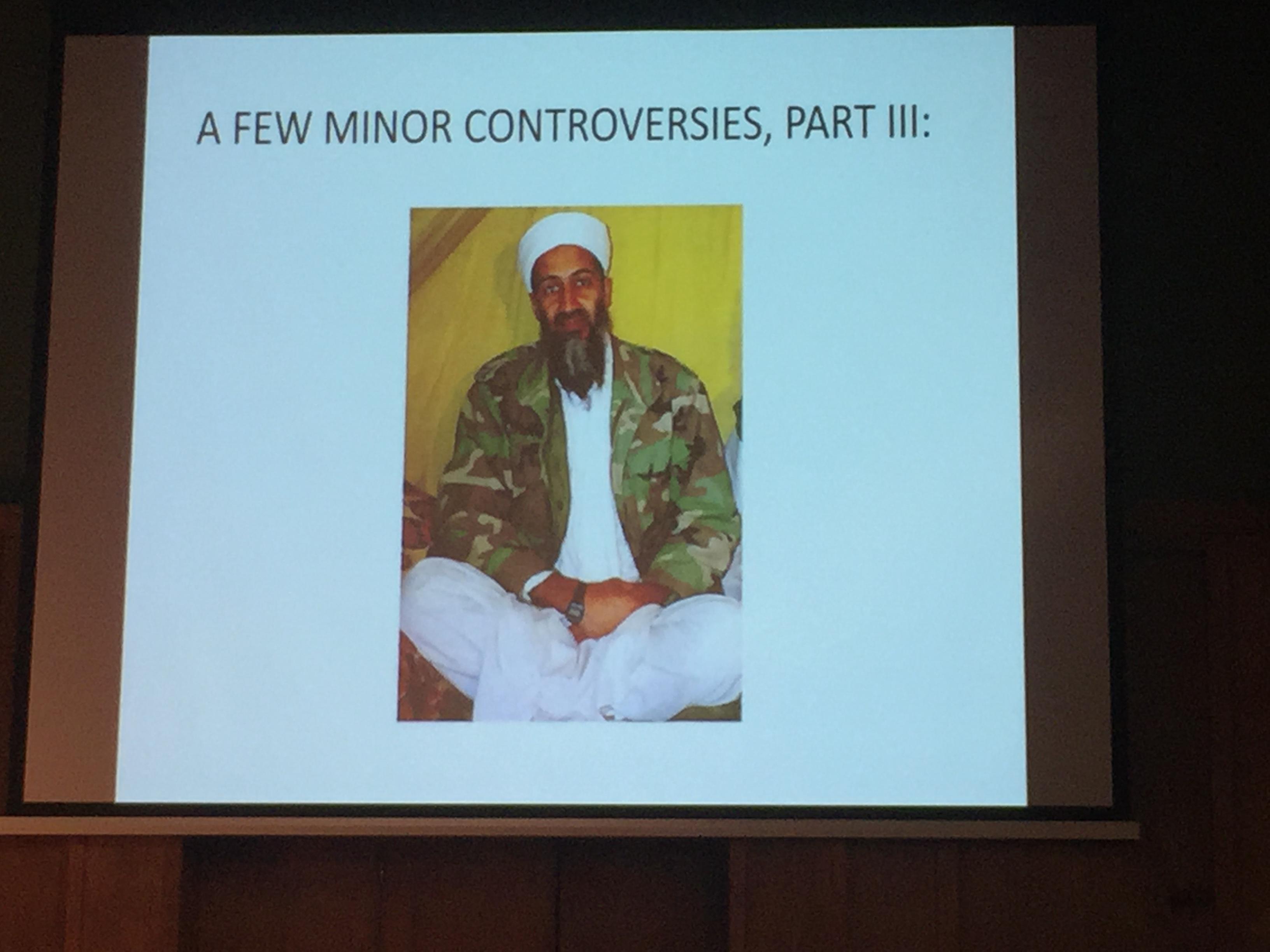 Osama bin Laden models his Casio F-91 W